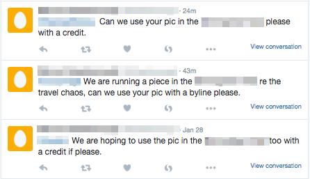 Screenshot von Twitter, mit undeutlichen Benutzernamen