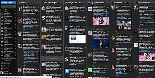 Twitter tools: Tweetdeck